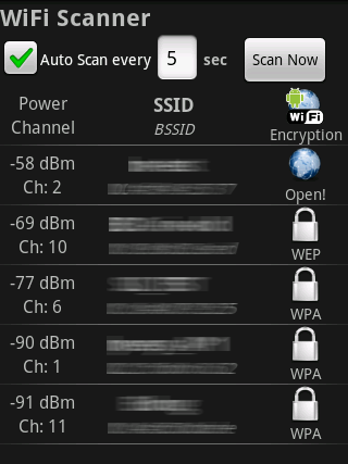 Android WiFi Scanner
